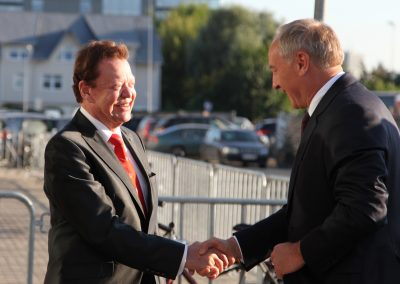 with Andris Bērziņš (President of Latvia) at the WCG Riga 2014 | © studi43