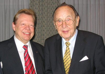 with Hans-Dietrich Genscher (former Foreign Minister and Vice President of Germany) 2005 | © INTERKULTUR