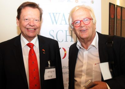 with Prof. Justus Frantz (German pianist, conductor, television presenter) at the Walter Scheel Forum 2014 | © Roger Schmidt