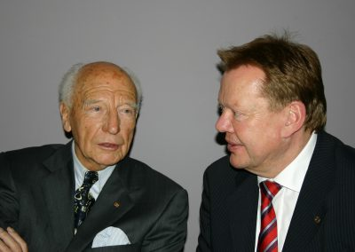 with Walter Scheel (former Federal President of Germany) in 2004 | © INTERKULTUR