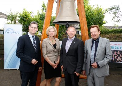 with Thorsten Schäfer-Gümbel (Vice Chairman SPD), Anita Schneider (District Administrator of the District Gießen) and Stefan Bechthold (Mayor of Fernwald)