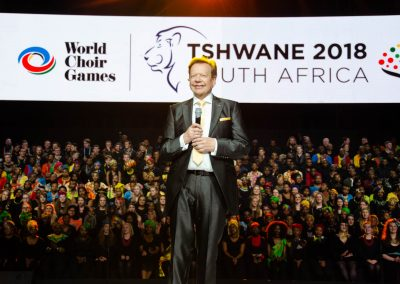 Opening of the World Choir Games 2018 in Tshwane, South Africa